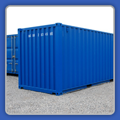 Blue Domestic Self Storage Container
