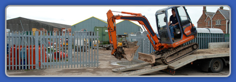 Industrial Yard with Palisade Fencing