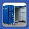 Secure Blue Storage Containers