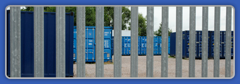Secure Compound with Palisade Fencing